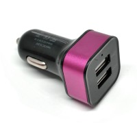 Quick Car Kepala Charger Mobil Dual USB 2.1A Colokan USB HP Android