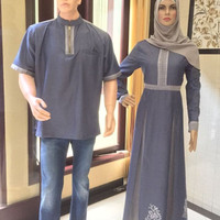 Sarimbit Elegan - Almadani SR 126 - Baju Muslim Keluarga - Dress Koko