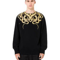 MARCELO BURLON FW18 YELLOW SNAKE CREWNECK SWEATER/SWEATSHIRT ORIGINAL