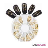 Gold shape nail art wheel / nail decoration / nail decor