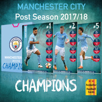 Kartu Bola Fezballer Cards MANCHESTER CITY CHAMPIONS season 2017/18