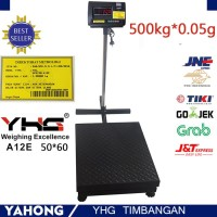 Timbangan duduk digital YHG scale A12E 500kg Pan Size 50cm x 60cm