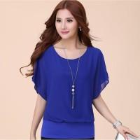 Baju Atasan Wanita Blus Sifon Model Korea Wing