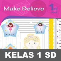 Make Believe Buku Aktivitas Anak SD Berhitung Mewarnai Gunting Tempel