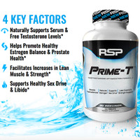 RSP Nutrition Official Prime T Prime-T Testobooster 120 Tablet Test HD