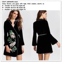 Outer Cardigan Kimono Tiger Wanita Korea Import AB946696 Black Hitam