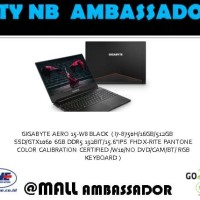 GIGABYTE AERO Laptop 15-W8 i7-8750H 16GB 512GB GTX1060 6GB W10