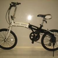 sepeda 20 lipat Doppel Ganger 210 hitam putih baru GRATIS ONGKIR