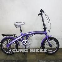 Sepeda Lipat Exotic 2625V 7 Speed Ukuran 16 Untuk Anak dan dewasa
