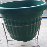 Rak Besi Pot Bunga Untuk Pot 40-45cm pendek 30 / Rak Besi Putih