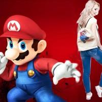 Tas Serut Ransel Mario Bros Mario Brother Game Nintendo Non Ori Kartun