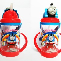 Botol Minum Anak Bayi Karakter Thomas and Friends 500ml Sedotan dan Pe
