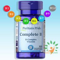Puritan's Pride COMPLETE B - Vitamin B Complex 100 Kaplet   B Kompleks