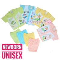 Setelan Bayi Pendek Unisex Pakaian Laki Perempuan Perlengkapan Newborn