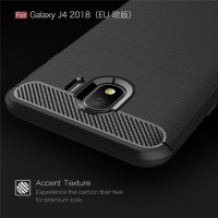 Samsung Galaxy J4 2018 Slim Carbon Softcase Armor Bumper