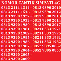 Jual Kartu Perdana Nomor Cantik No Telkomsel XL Indosat Simpati AS Murah