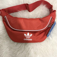 Adidas waist bag peach/red
