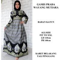 gamis batik wanita modern baju batik muslimah murah gamis prada