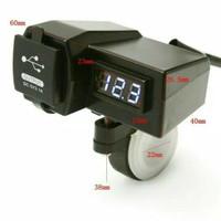 VOLTMETER CHARGER HP USB 2 IN 1 DIGITAL OUTDOOR | VOLTASE METER MOTOR