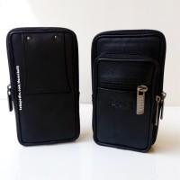 Tempat Dompet Sarung Smartphone Tas Hp Full Kulit Asli Boss Casual