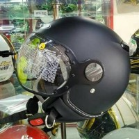 Helm Zeus Z210 Matt Black Half Face