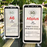 Tempered Glass 5D Full Cover Premium Glass Thin HP Samsung A6/A6 Plus