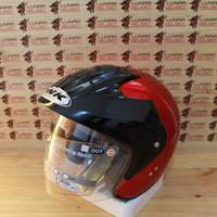 Helm ink Batman merah maroon