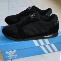 harga terbaru Sepatu Sekolah Adidas Neo Full Black Hitam Anak Pria