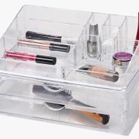 Transparent Make-Up Organizer with 2 Drawers Atria