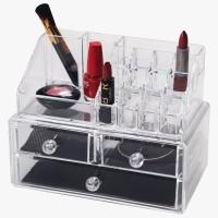 Transparent Make-Up Organizer with 3 Drawers Atria