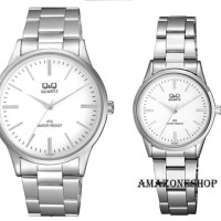 ORIGINAL !! Jam Tangan Couple Original Q&Q QQ QnQ Stainless Steel