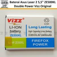 Baterai Vizz Double Power Asus Zenfone 2 Laser 5' ZE500KG Z00RD Z00ED