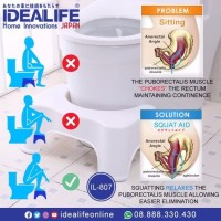 jual BANGKU Toilet BAB SEHAT - IL 807 SQUATTY potty AID IDEALIFE