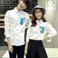 kemeja couple putih lengan panjang - baju pasangan