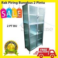 Rak piring bungkus kaca 2 pintu Semarang & sekitar