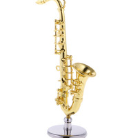 Golden Miniature Saxophone for 1:12 Scale