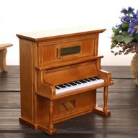 Vintage Wood Piano Music Box - Hand Made