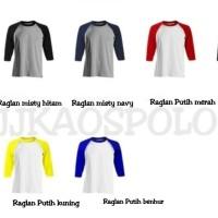 SIZE XL -Kaos Polos Raglan Cotton Combed 20s