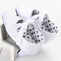 Jual Sepatu prewalker baptis bayi import putih pita high heel heels elegan Murah