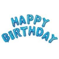 Balon Foil Happy birthday biru / Balon Happy birthday / balon Huruf