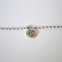 gelang kaki GT017 RANTAI/ silver 925 lapis emas putih/ perhiasan