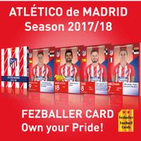 Kartu Bola Fezballer Cards ATLETICO MADRID season 2017/18