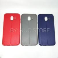 Samsung Galaxy J4 Autofocus Leather Softcase Case Casing Bumper Soft