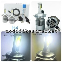 LAMPU C6 LED 36W COB MOBIL SOCKET H4