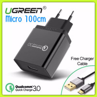 Charger UGREEN Qualcomm Quick Charge 3.0 18w with Cable 100cm Original
