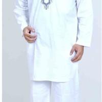 Baju Setelan Koko Kurta Pria Katun Putih SP 111-12 Spiccato