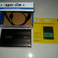 hardisk external ps2 40gb & mc boot LIMITED