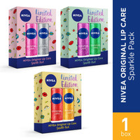NIVEA ORIGINAL LIP CARe sparkLe pack