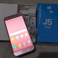 samsung J5 pro pink seken like new fullset