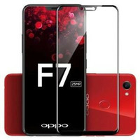 TEMPERED GLASS HP OPPO F7 FULL LAYAR KACA BENING